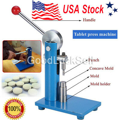 6mm Tablet Press Machine Manual Powder Hand Pressing Pill Making Home Lab Hot US