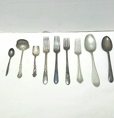Lot of Various Silverplate Flatware Forks and Spoons