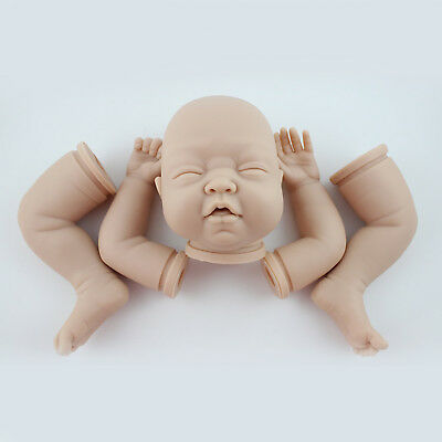 "Reborn Doll Kits Soft Vinyl Head 3/4 Limbs Supplies for 22"" Sleeping Baby Doll"