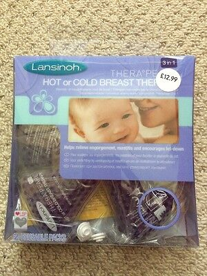 BN Sealed Lansinoh Therapearl Hot/Cold Breast Therapy Breastfeeding Relief