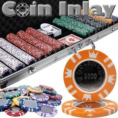 NEW 600 Coin Inlay 15 Gram Clay Poker Chips Set Aluminum Case - Pick Your Chips