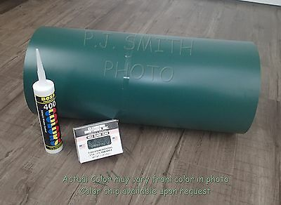 """Woodland Green #214 Aluminum Coil 24"""" x 50' Package Trim Nails & Caulk included"""
