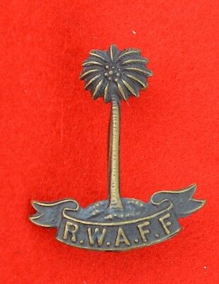 British Army. Royal West African Frontier Force Genuine Officer's Collar Badge
