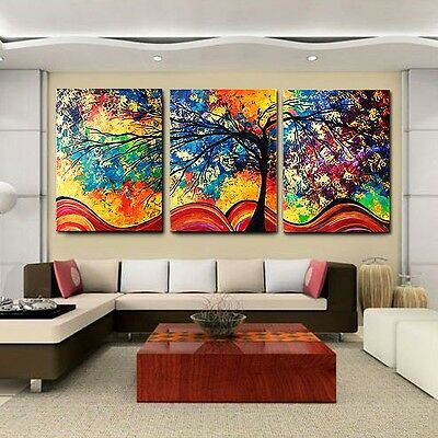 Money Tree Modern Abstract Art Canvas Oil Painting Picture Print Home Wall Decor
