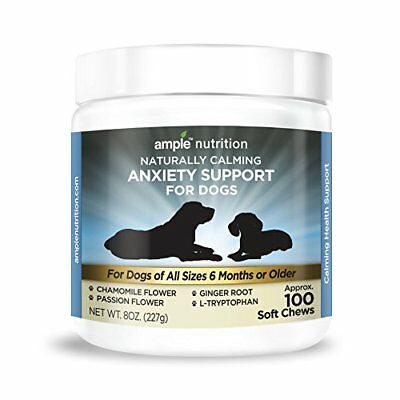 Anxiety Support Dog Calming Treats | L-Tryptophan, Chamomile, Passion Flower