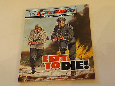 Commando War Comic Number 2318!,1989 Issue,v Good For Age,28 Years Old,very Rare