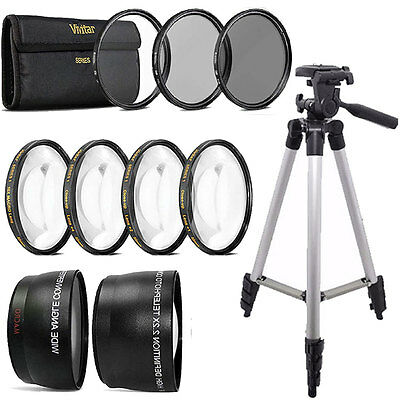 52mm Fisheye Wide Angle & Telephoto Lens Top Accessory KIT For NIKON DSLR Camera
