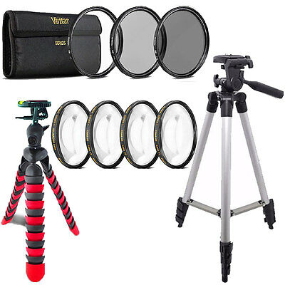 58mm Macro Filter + UV CPL ND + Flexible Tripod For CANON EOS 700D 1200D 1300D