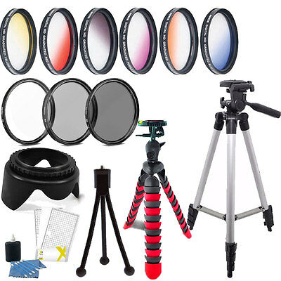 58mm Color Filter + UV CPL ND Accessory KIT For CANON EOS 700D 750D 800D 1200D