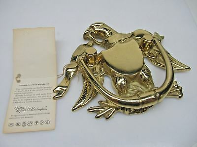 Vintage Virginia Metalcrafters Door knocker - Eagle - Solid Brass