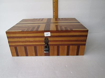 Antique Inlaid Wood Dresser Box