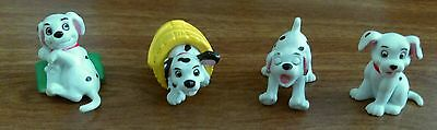 Disney 101 Dalmation Puppies Lot Of 4 - PVC Toy Figures And Cake Toppers