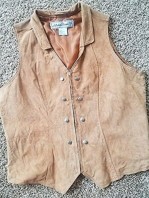Women's Suede Leather Vest Large