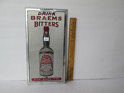 Antique Metal Bitters Advertising Sign