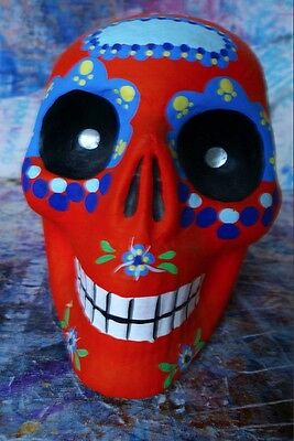 Mexican 'Day of the Dead', paper mache skull.