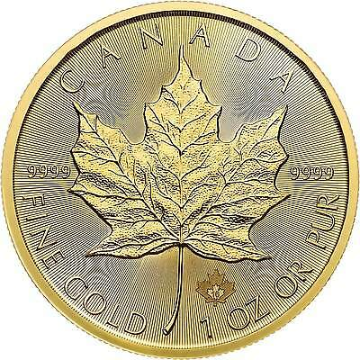 1 oz Canadian Gold Maple Leaf Coin (Dates Vary, BU)