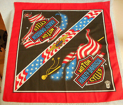 Official Harley-Davidson Cycles Bandana Dew Rag USA 22x22 Licensed Product Blend