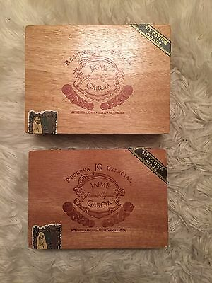 CIGAR BOX,JAIME GARCIA MY FATHER CIGARS, Crafts, Storage,  Lot Of 2