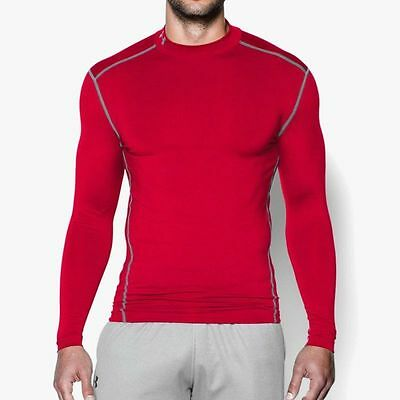 "Under Armour Men's ""ColdGear Armour Compression Mock UA 1265648-600 Red MSRP $50"