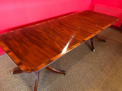 Grand Regency Style Brazilian Mahogany Dining Table Pro French Polished