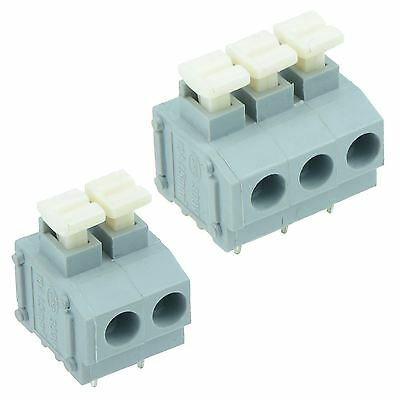 2-Way or 3-Way Screwless 5.00mm Terminal Block PCB Connector