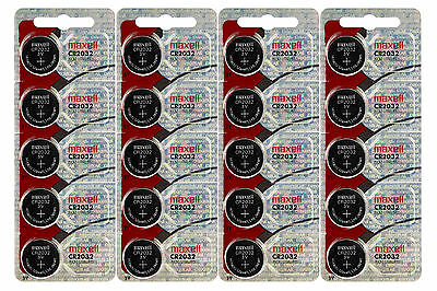 Genuine Maxell 20 X CR2032 3V Lithium Button/Coin Cells batteries UK Seller