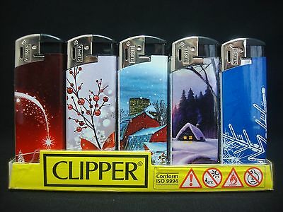 10 Clipper Electronic Christmas Time Lighters (Only 5 Designs)