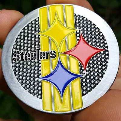 PREMIUM NFL Pittsburgh Steelers Champions Poker Card Protector Coin Golf Marker
