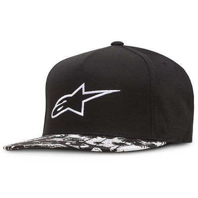 Alpinestars NEW Mx Paradise Black OSFM Adults Casual Motocross Cap Hat Snapback