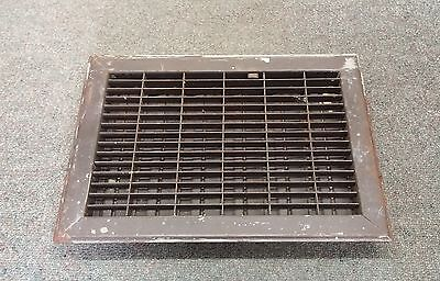 Vintage Floor GRILLE 12x8 w/ LOUVERS Grate HEAT REGISTER L@@K