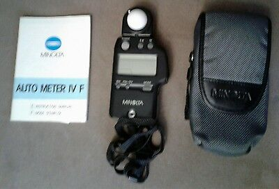 MINOLTA AUTO METER IV-F Ambient/Flash Light Exposure Meter IVF. Battery INCLUDED