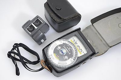 EXC++ GOSSEN LUNASIX 3 INCIDENT LIGHT METER w/SPOT ATTACHMENT, CASES, TESTED