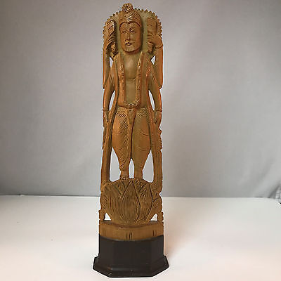 Vintage Carved Wood HINDU GOD Figurine Sculpture Statue Figure India