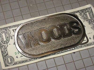 Woods Tisco Belt Buckle made by Spec Cast Rockford Ill USA Brush Hogs Farm Eq IH