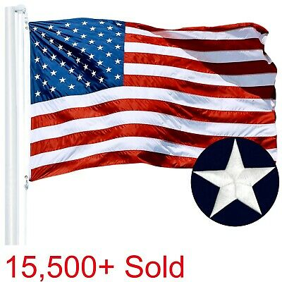 3x5 ft USA American Flag Deluxe Embroidered Stars Sewn Stripes Brass Grommets