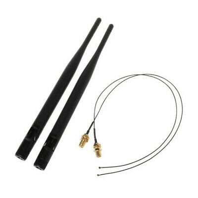 2x IPEX MHF4 to RP-SMA Antenna Pigtail for NGFF M.2 WIFI WLAN 3G 4G Modules