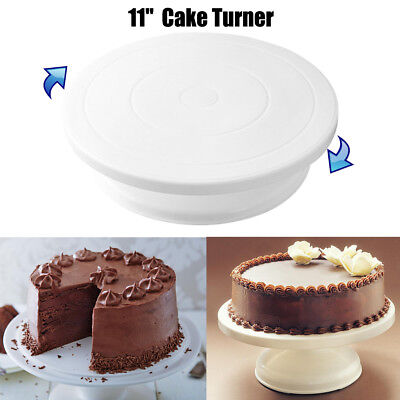 """11"""" Rotating Revolving Cake Turn table Plate Display Stand Decorating Supplies"""
