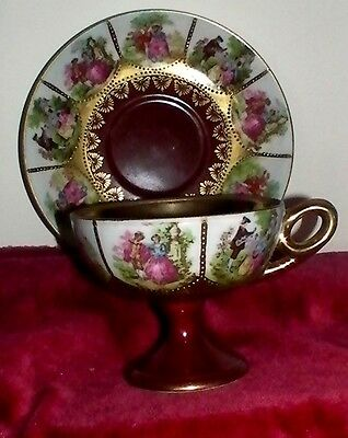 Limogues.China.Cup.and.Saucer