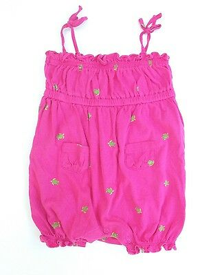 CHAPS Baby Girl's 6M 6 Months Pink Sea Turtle Romper CUTE