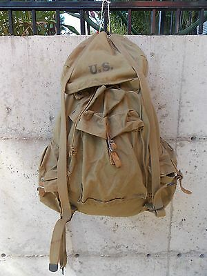 Vintage,ww Ii,u.s. Army,haversack/rucksack..back Pack,steel Frame,excellent