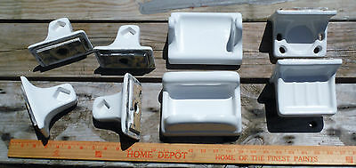 Vtg Lot of Porcelain Wall Mounted Bathroom Soap Dish Toothbrush Cup Towel Toilet