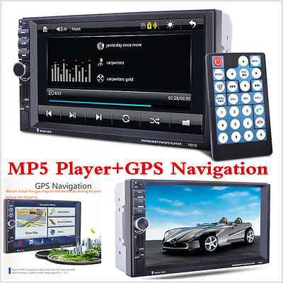 """2 Din In-Dash 7""""  Touch Screen GPS Navigation Car Stereo FM Radio MP3/MP5 Player"""