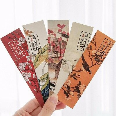 30pc/Box Stay Blooming Bookmark Book Mark Magazine Note Label Memo School #WU