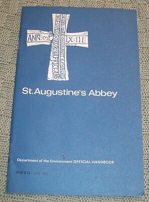 St. Augustine Abbey Guide Book & Map; Canterbury, Kent, England, Very Good