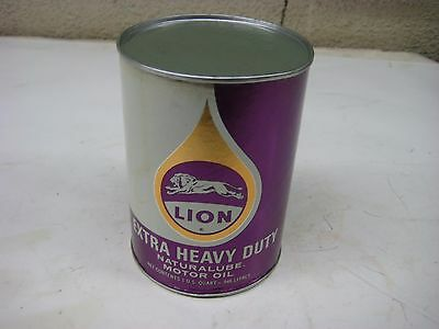 Vintage Gas & Oil Service Station 1 Qt Lion Extra Heavy Duty Motor Oil Can