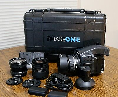 Mamiya 645 DF+ Body + Phase one P45+ Digtal Back + 3 lenses(80mm, 35mm,  45mm )