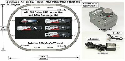 Starter Set Z Scale Power Pack Dallas TRE Train Set Track Rokuhan AZL *NEW$0SHIP
