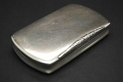 Antique Solid Silver Gilded Snuff Pill Box 900