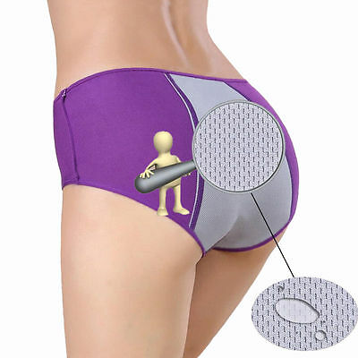 Women's Solid Physiological Menstrual Period Leakproof Seamless Briefs Underwear