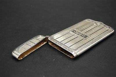 Beautiful Victorian 1864 Antique Solid Silver  Card Case,  Sterling Snuff Box